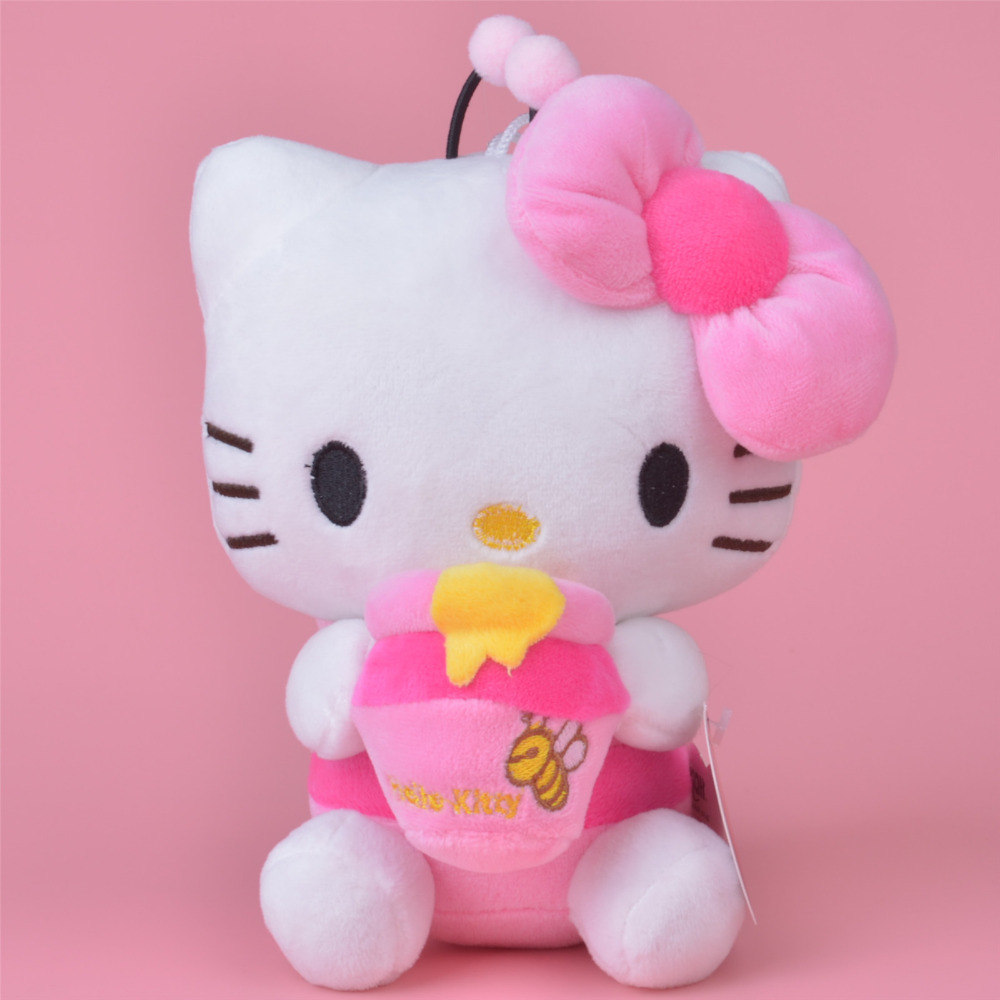 Honey Bee Hello Kitty Plush Toy, 20cm Baby Gift, Kids Doll Wholesale with Free Shipping