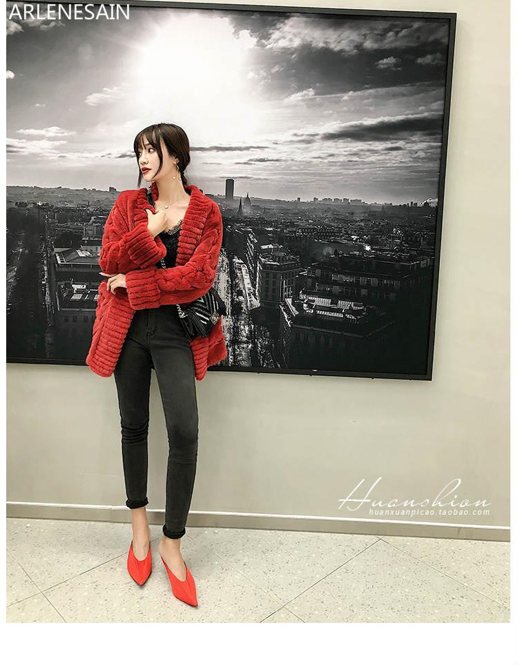 Arlenesain custom Twisted braided twist imported velvet mink fur women coat Haining