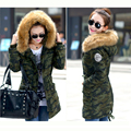 2017 Winter Jacket Women Cotton Wadded Coat Medium-Long Plus Size 4XL Parka Fur Collar Thickening Hood Abrigos Female 1SY6225