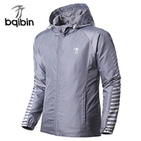 Windbreaker Men Stripe Trench Long Sleeves Zip Fly Mens Coat Solid Pockets Top 2019 Mens Outwear Brand