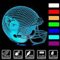 3D LED night light Lampa biurko Baseball cap Tennessee Titans kolorowe USB pilot lub przełącznik dotykowy lampa IY803655-37 spania