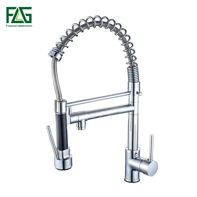 Flg New Arrival Pull Out Kitchen Faucet All Around Rotate Swivel 2
