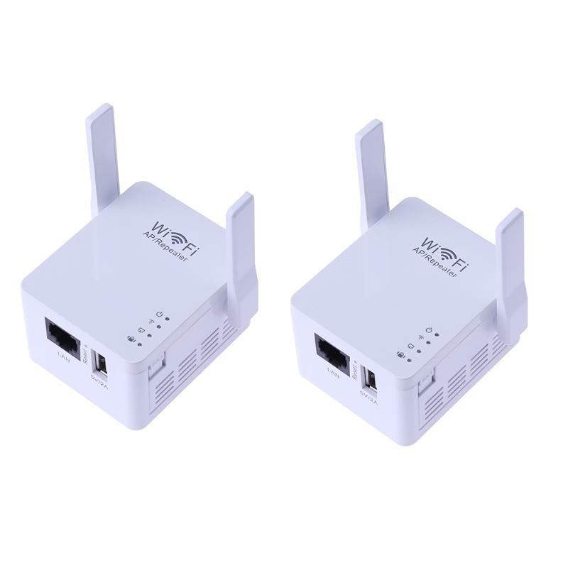 300Mbps WiFi Router Signal Amplifier Network Repeater WiFi Range Extender, Support routing + relay + AP + USB charging