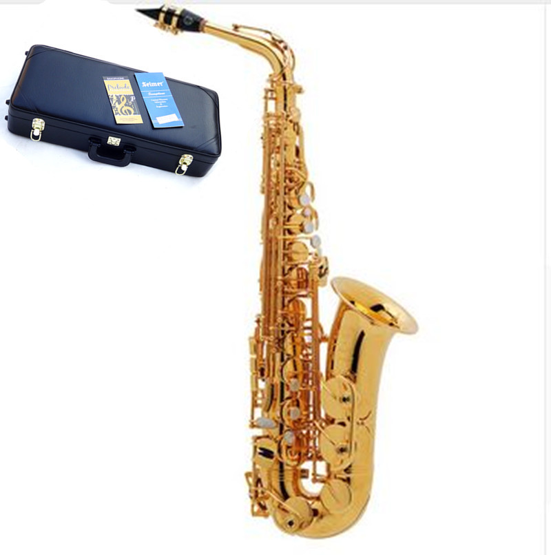 Hot selling Sax France Henri alto saxophoe Selmer 54  Musical Instruments saxofone Electrophoresis gold professional & Hard boxs selmer of france b flat tenor sax instruments shipping professional performance suitable for beginners