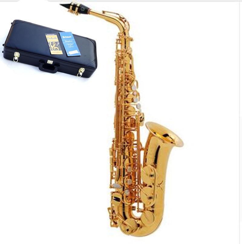 Hot selling Sax France Henri alto saxophoe Selmer 54 Musical Instruments saxofone Electrophoresis gold professional Hard
