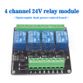 4 channel 3V/5V/12V/24v relay module relay expansion board control board with optocoupler isolation double power supply