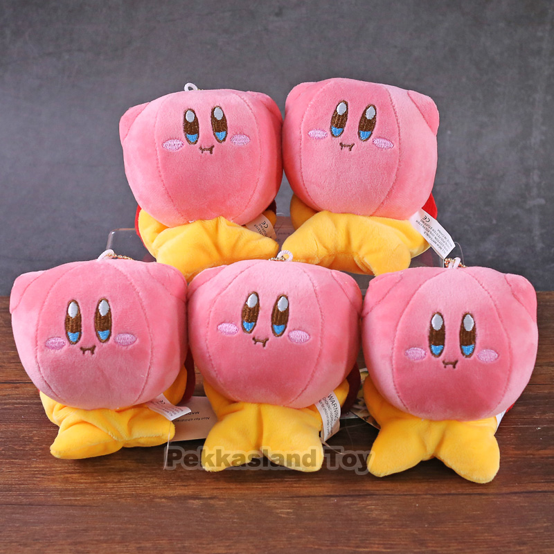 10 pcs/lot Kirby plush doll game Kirby Popopo cute plush toys cosplay mini bag phone pendant birthday gift party supplies image