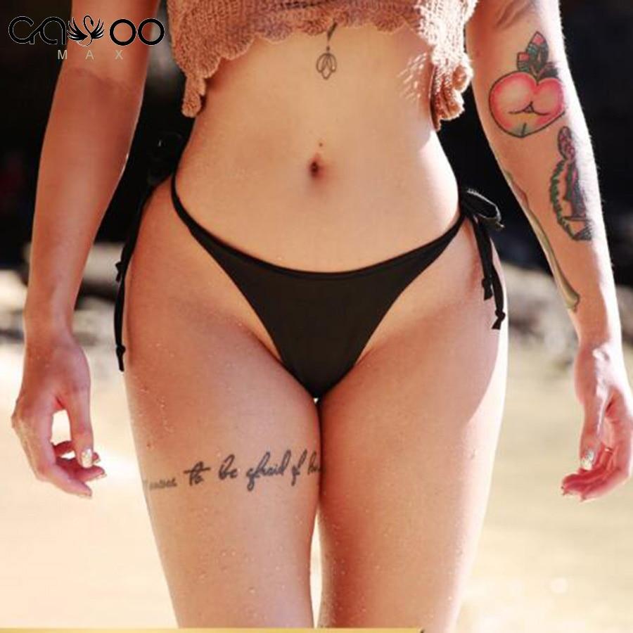 2018 New Sexy brazilian Female swimwear String micro mini bikini bottom women String Briefs Thong Panties Underwear