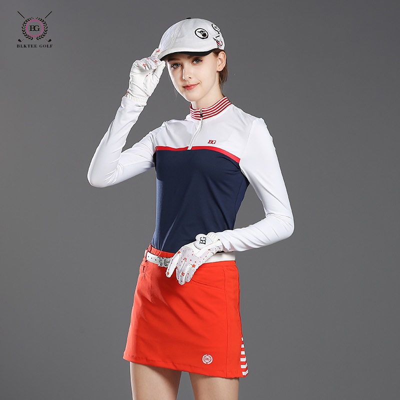 new golf clothes women's long-sleeve T-shirt lady autumn and winter sports basic shirt girl slim golf sprots jersey S~XL tops 2017 new summer women golf sports sunscreen shirt long sleeve ice silk arm sleeve shirt top quality 4 color lady golf shirt girl