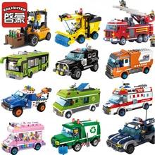 ENLIGHTEN City Girls Princess Truck Car Bus Building Blocks Sets Bricks Model Kids Classic Compatible Legoes Friends Toy Gift