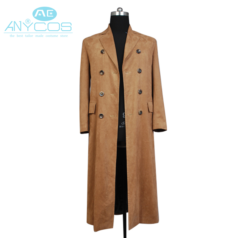 Doctor Who Dr. Brown Long Trench Adult Men Coat Suit Halloween Party Cosplay Costume