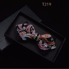 Crystal Bling Butterfly Knot Men's Bow Tie