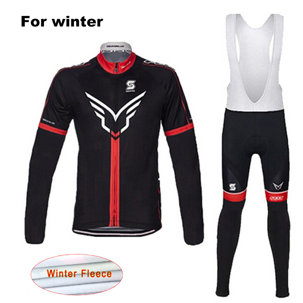 FELT Winter Thermal Fleece Team Cycling Jersey Set Long Sleeves MTB Bike Clothes Ropa Ciclismo Invierno Maillot Bicycle Clothing