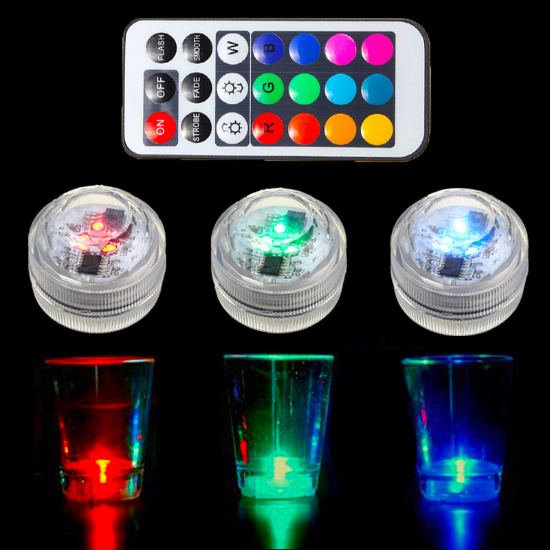 Underwater Lamp RGB LED Submersible Light Bulb 1.5V Colorful Candle Light With Remote Control Waterproof IP65 Decor Lighting