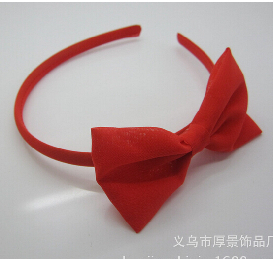 1 set Girls ribbon bows headband thin grosgrain hairband for princess kids red headdress hairbands hair Accessories 10pcs lot high quality hair band with grosgrain ribbon flower for girls handmade flower hairbow hairband kids hair accessories