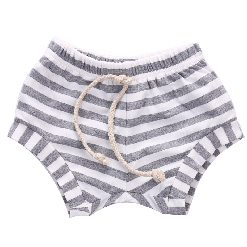 2017 New Lovely Baby Kids Cotton Striped Shorts Hot Sale Newborn Baby Girl Summer Bebes Bottoms Bloomers Hot Pants Casual Shorts