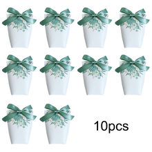 10pcs Creative Flower Printing Candy Boxes Wedding Favors and Gifts Box Party Supplies Baby Shower Paper Chocolate Boxes Package(China)