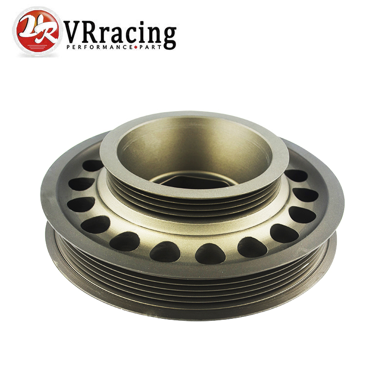 VR RACING Racing Light Weight Aluminum Crankshaft Pulley OEM Size For 93 01 Honda Prelude H22