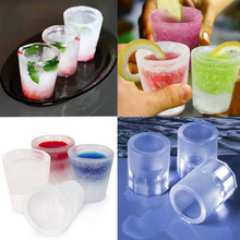 DIY Ice Cube Mold 3D Popsicle Glass Cup Shape Maker Freeze Tray Kitchen Bar Party Drink Cream Tools
