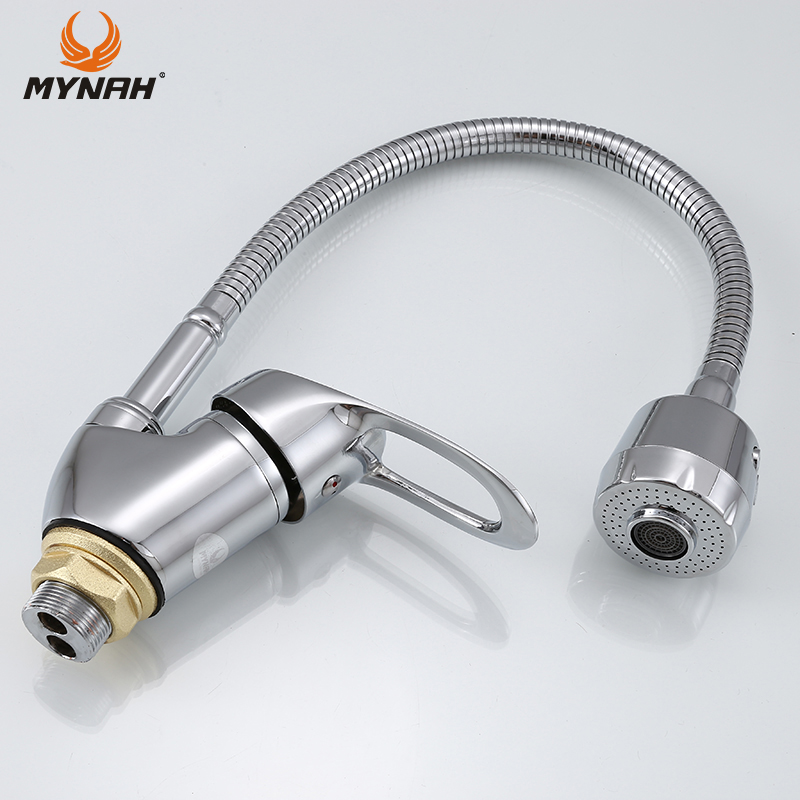MYNAH Russia free shipping Kitchen Faucet mixer crane Any Any Direction Kitchen Faucet Kitchen Sink Tap Hot and Cold Water Tap