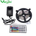 RGB LED Strip 5050 SMD 5M 150LEDS +12V 2A Power Adapter Supply +44Key IR Remote Mini Controller, 30led/m RGB LED Strip Light