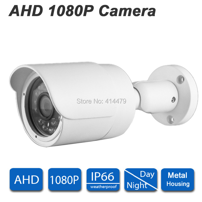 CCTV 2MP AHD 1080P Outdoor Waterproof Bullet Home Security Camera 24pcs IR LEDs Night Vision Metal Case wistino cctv camera metal housing outdoor use waterproof bullet casing for ip camera hot sale white color cover case