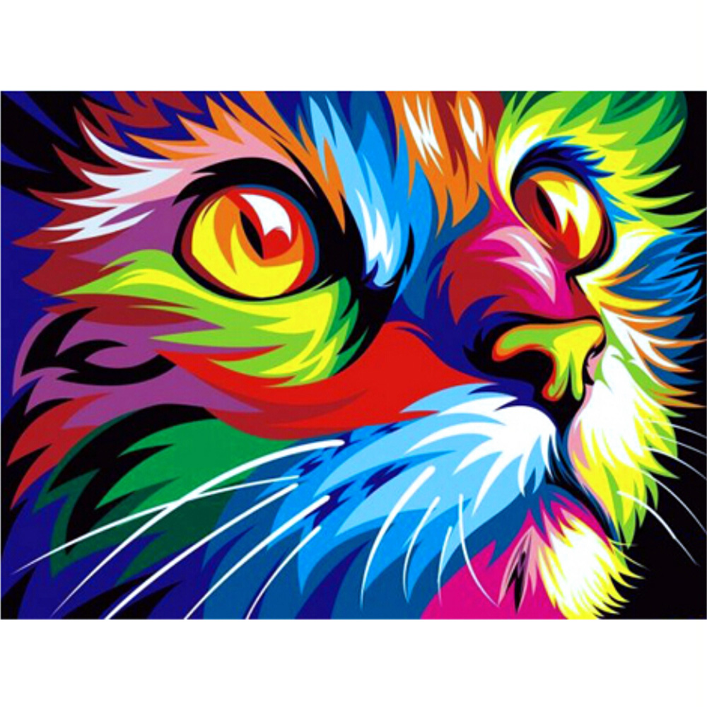 Diy Diamond Painting Cat Diamond Embroidery Europe Home Decoration Square Resin Diamond  ...