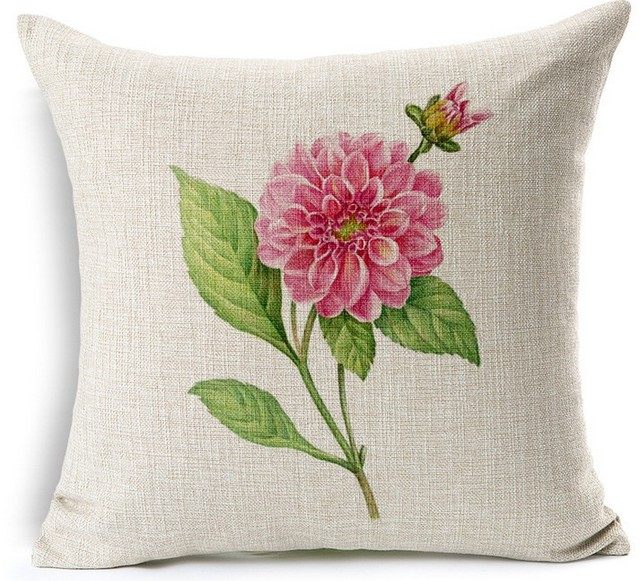 China Rosa Chinensis Green Seed Bonsai Vase Hand Painted Pillows Emoji Euro  Home Decor Pillow