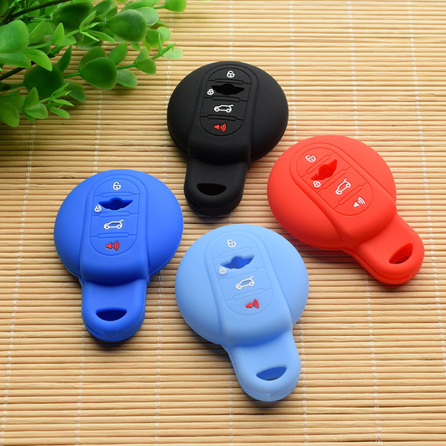 Silicone Key Fob Cover Case Shell For Bmw Mini Cooper Poadster Coupe