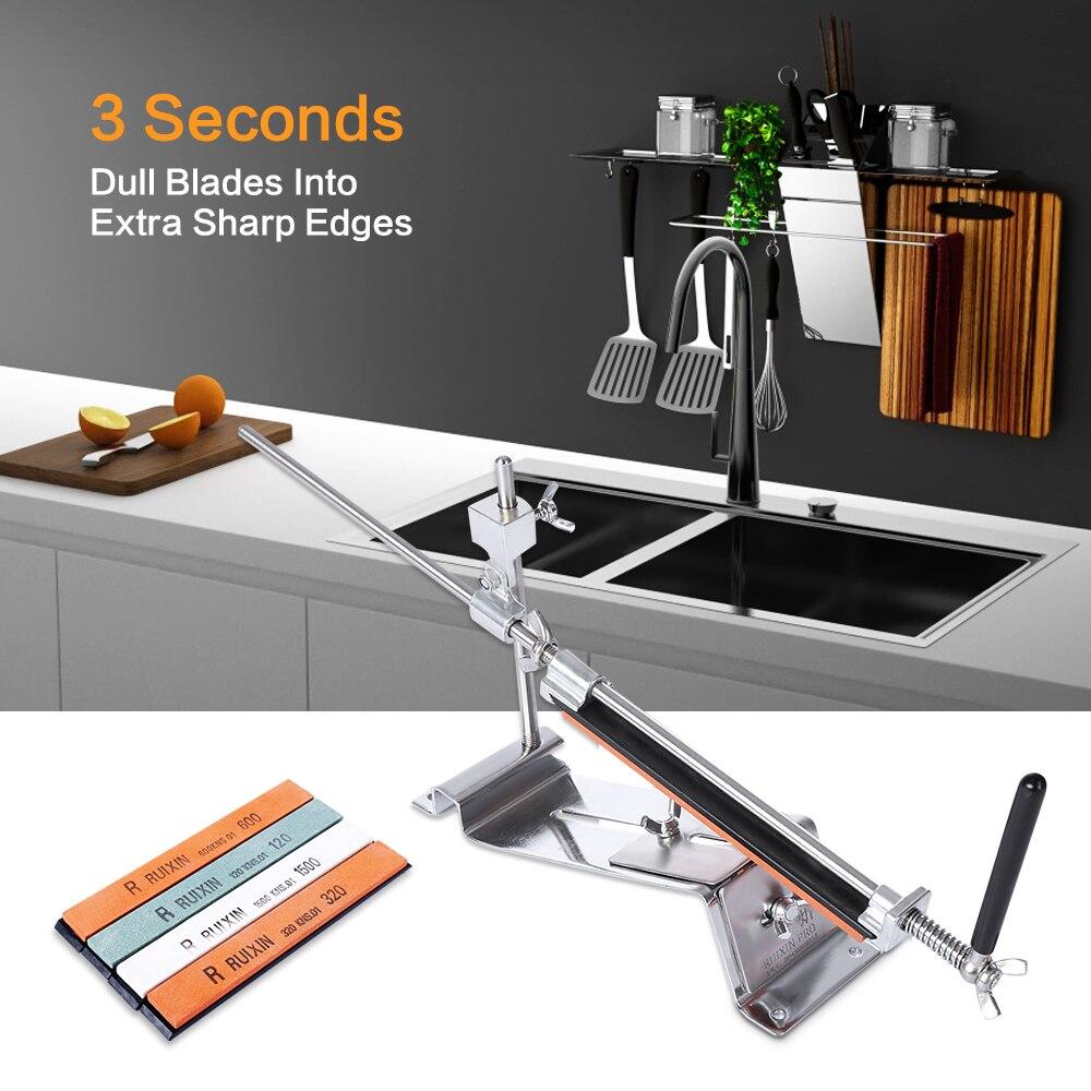RUIXIN PRO III Messer Spitzer Professionelle Alle Eisen Stahl Küche Schärfen System Werkzeuge Fix-winkel Mit 4 Steine Schleifstein