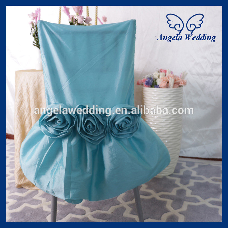CH030E Wholesale Nice Taffeta Ruched Ruffled Light Blue Chair Cover With  Flower In Chair Cover From Home U0026 Garden On Aliexpress.com | Alibaba Group