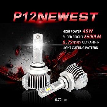 1 Set Super bright P12 Car Led Headlight Bulb 90W 13000lm headlamp 6500K H4 H7 H11 9005 9006 9012 H15 H16 new style car headligh