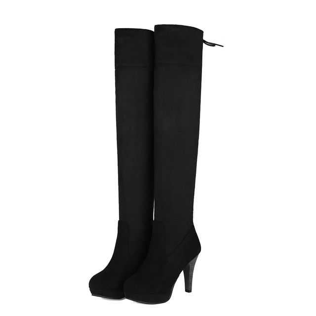 2016 Rushed New Size Winter Stivali Botas Mujer Big Size New 34 44 High Heels   c31a47