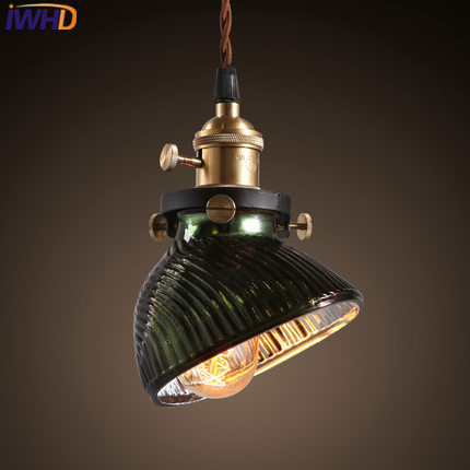 IWHD Glass Vintage Lamp Pendant Light Fixtures Loft Style Industrial Pendant Lights Retro Bedroom Hanglamp Luminaire Lamparas iwhd glass lampara vintage pendant light style loft vintage pendant lights living room bae kitchen lamps hanglamp luminaire