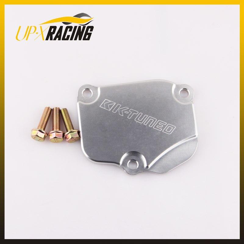 Prix pour Voiture en aluminium Tendeur plaque de recouvrement pour K24 K20 moteur CIVIC RSX TSX chaîne couverture