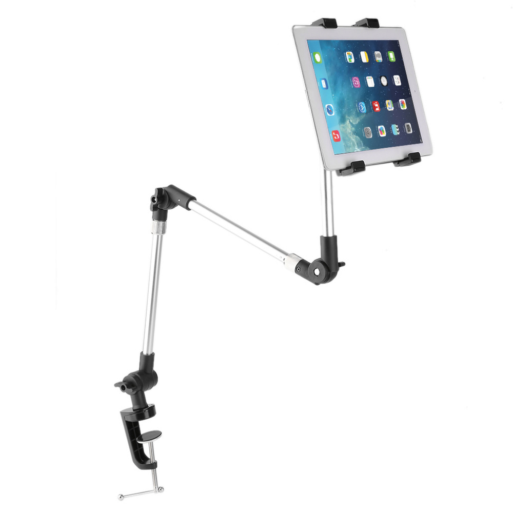 360 Rotating Flexible 95cm Long Arm Tablet PC Holder Mobile Phone Stand Lazy Bed Table Mount