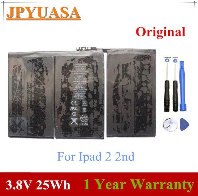 JPYUASA 3.8 V 25Wh A1376 Pin Máy Tính Xách Tay Cho Ipad 2 2nd Gen Thế Hệ A1395 A1396 A1397 616-0559 616 -0561 616-0576 Máy Tính Bảng