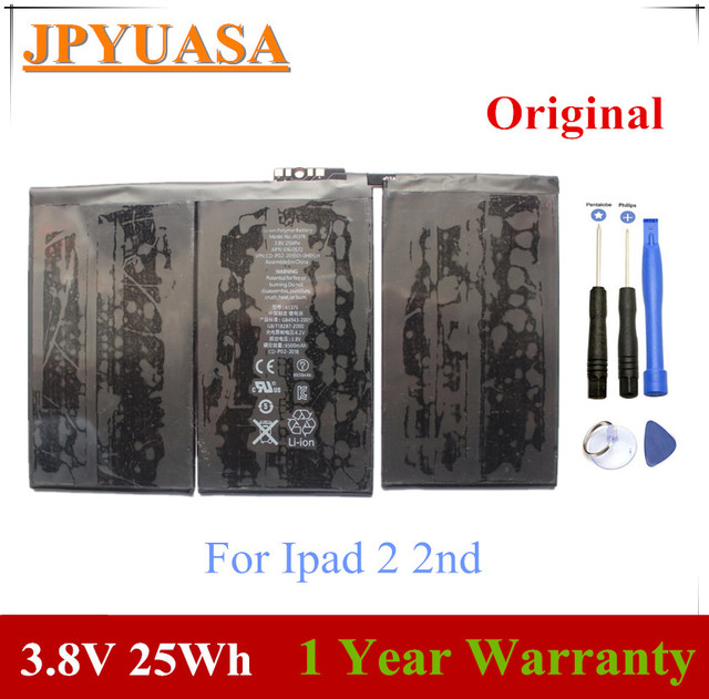 JPYUASA 3.8V 25Wh A1376 Laptop Battery For Ipad 2 2nd Gen Generation A1395 A1396 A1397 616-0559 616-0561 616-0576 Tablet