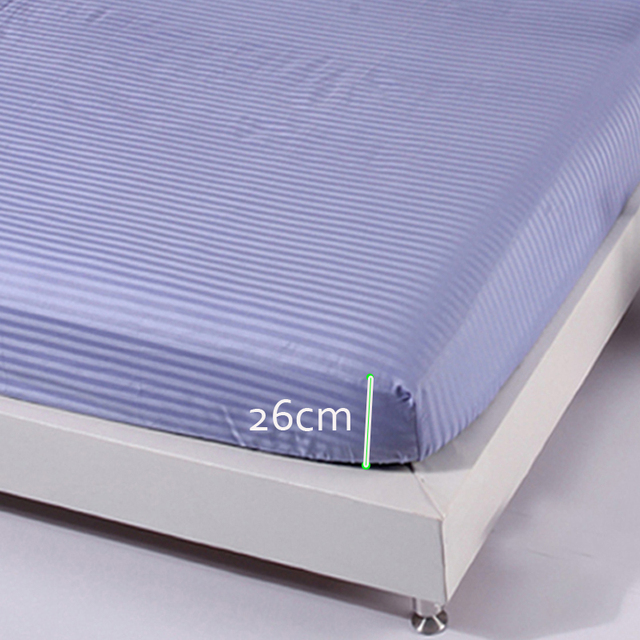 100% Cotton Fitted Sheets Single Twin full queen king Size Bedsheets Elastic Mattress Cover Protective Case