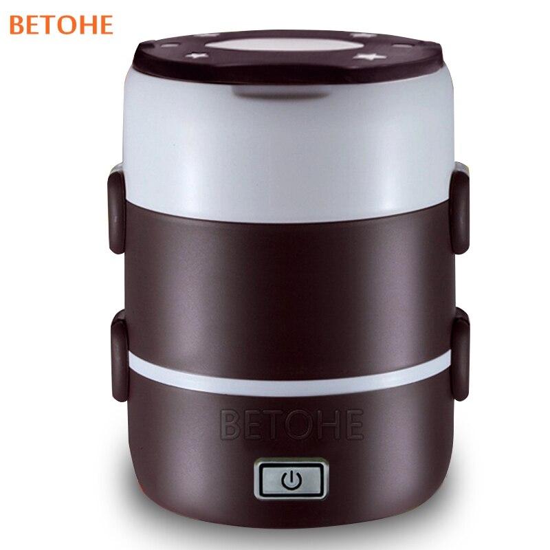 BETOHE 3 couches électrique boîte de chauffage portable pique-nique déjeuner armoire garder wram alimentaire conteneur mini cuisinière pour école bureau maison