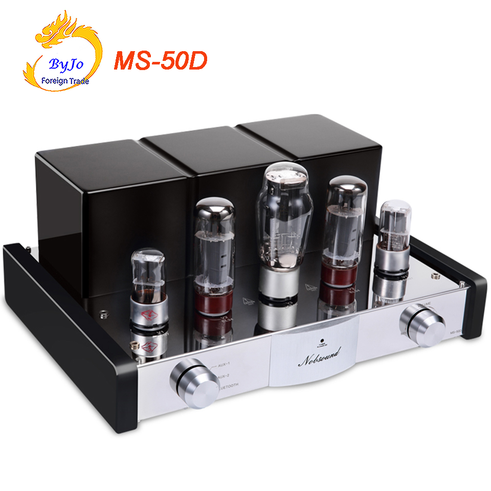 Nobsound MS-50D Tube Amplifier HI-FI AMP 2.1 Channels Amplifier Vaccum Tube AMP Bluetooth Amplifier and USB MS-10D 30D Upgraded hi fi 6f1 tube amplifier bluetooth 4 0 mini power amp u disk lossless decoding