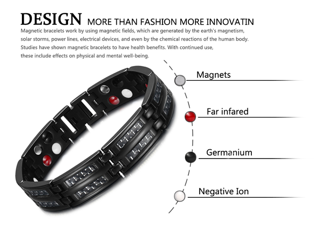 Мужской браслет welmag черный из титана и углеродного волокна