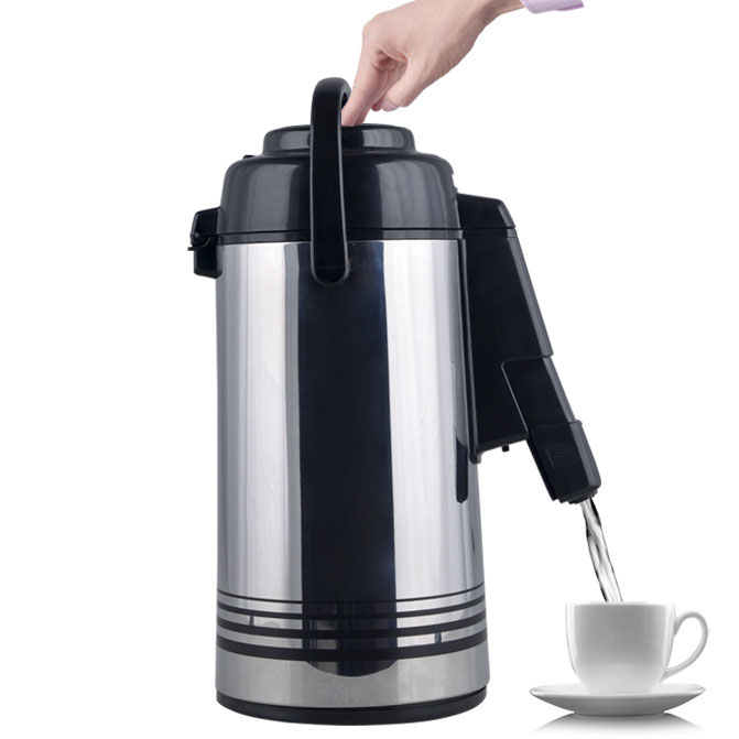 LK152 Outlet Height Adjustable Vacuum Insulation Thermos 3L Thermos Pressure Bottle 360 Degree Rotational Base Water Kettle ys169 360 degree rotational hanging hook black silver