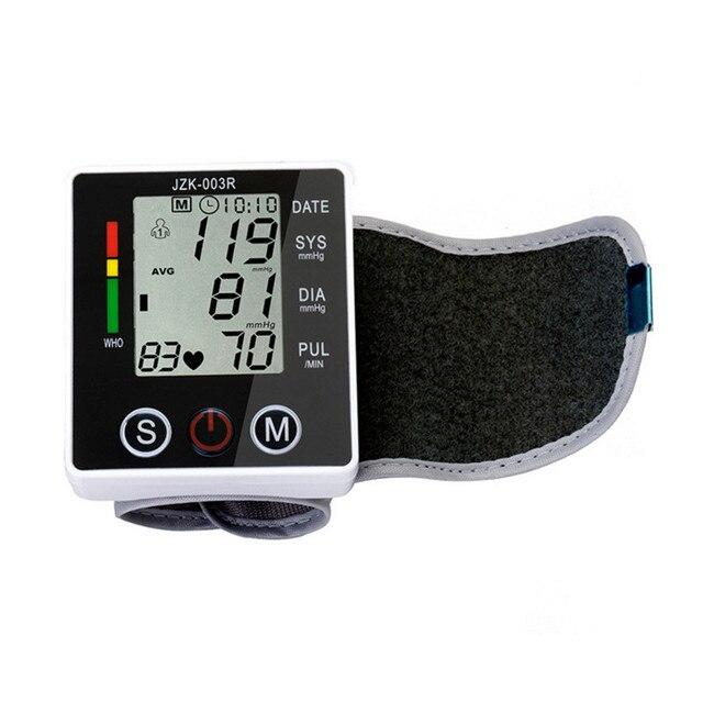 1pcs Wrist Blood pressure measuring instrument LCD Digital Display Cuff Blood Pressure Measurement Health Monitor