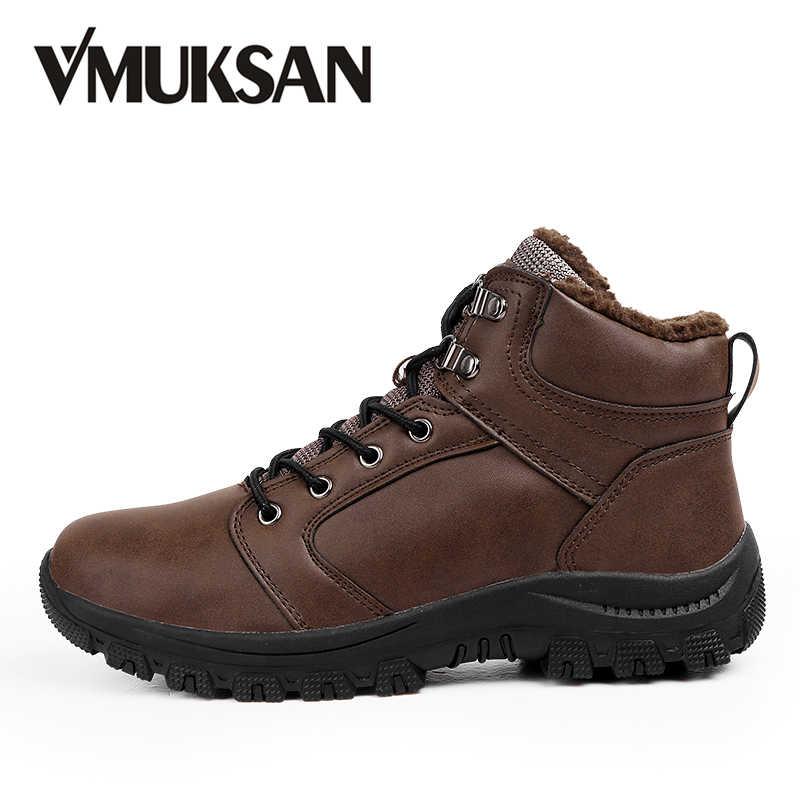 ff9fcb5f9 VMUKSAN/Новые Брендовые мужские ботинки, большие размеры 39-46, теплые  зимние ботинки