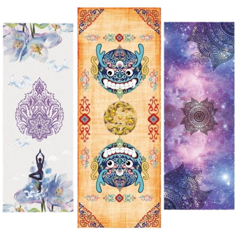 New Printed Yoga Mat Suede Natural Rubber 5mm Anti Slip Mat for Fitness Pilates Gymnastic Mat Can Be Customized Separately more longer new style 183cm 68cm 5mm natural rubber non slip tapete yoga gym mat lose weight exercise mat fitness yoga mat