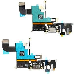 Image 2 - 1pcs USB טעינת נמל Dock Connector להגמיש כבל + מיקרופון + אוזניות אודיו שקע החלפת חלק עבור iphone 6 טעינה להגמיש