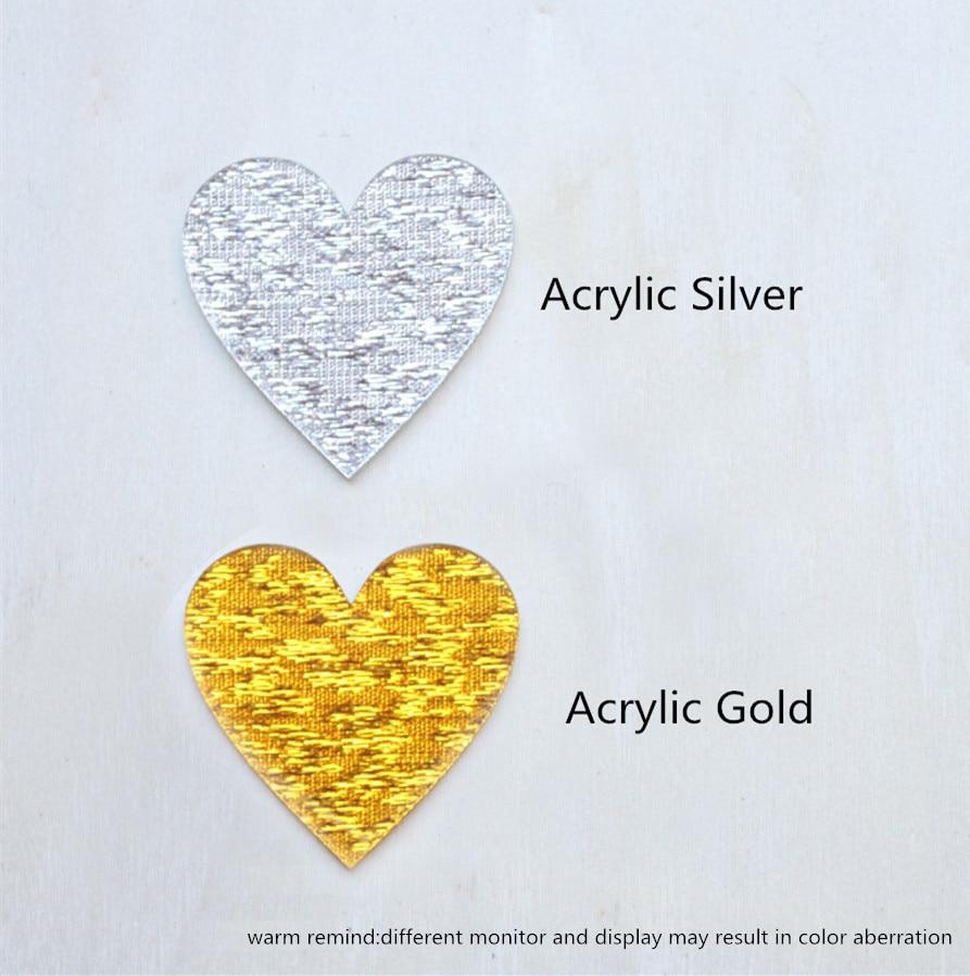 Besplatna dostava Vjenčanje torta Topper akril srebro zlato glitter, - Za blagdane i zabave - Foto 6