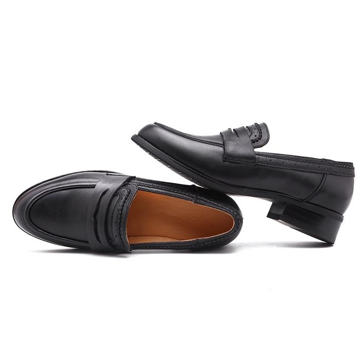 En Vache Mocassins 2028 40 Taille Rétro Dames Porc Femmes Black Dongnanfeng Femme Homme Chaussures 35 Cuir Appartements Peau Mère brown Bsqn Véritable De xqwppY8z