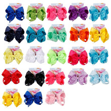 8 Large Party Bow Hair Clip For Girls Kids Handmade Crystal Collection Colorful Hairpin Accessories